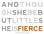 She is Fierce - Block