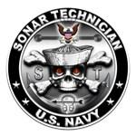 USN Sonar Technician Skull ST