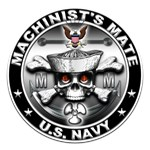 USN Machinists Mate Skull MM