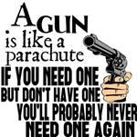 A Gun Is Like a Parachute
