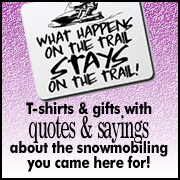 What Does Your Shirt Say? Snowmobile text t-shirts