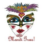 Mardi Gras Glittery Mask
