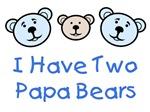 I Have 2 Papa Bears Gay Family Apparel & Gifts