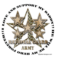 I love and support my National Guard Daddy Shirts