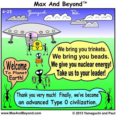 Cartoon: Ants and Aliens