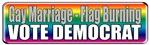 Gay Marriage Flag Burning
