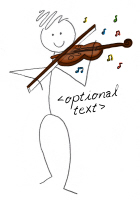 Violin Stick Figure