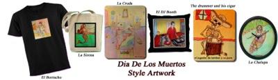 Dia De Los Muertos Style Artwork