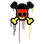 German Punk Skull