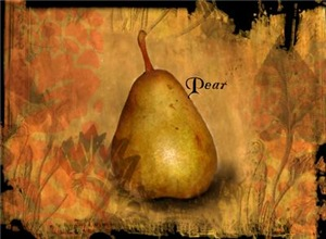 Botanical Golden Pear