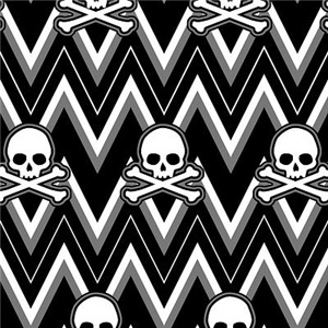 Gothic Skull Chevron