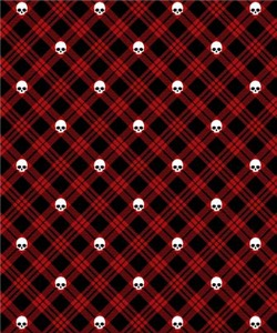 Red Skull Plaid