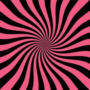 Twisty Stripes Pink Black