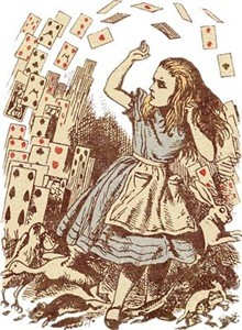 Vintage Alice Flying Cards