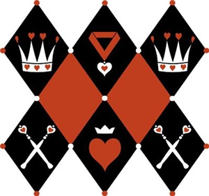 Queen Of Hearts Royal Motifs