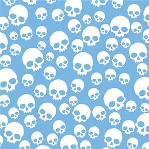 Light Blue Random Skull Pattern