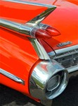 Cars: Classic Caddy Tail Fin (RED)!