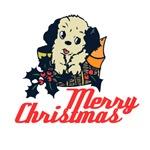 Retro Christmas Puppy