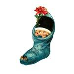 Vintage Christmas Stocking Cutie