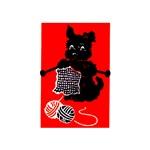 Knitting Retro Scottie Dog