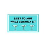Likes to Knit While Slightly Lit