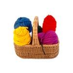 Yarn Basket - Colorful Yarn