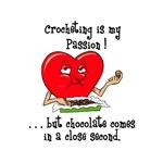 Crocheting and Chocolate