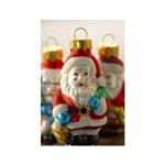 Vintage Glass Ornaments - Santa