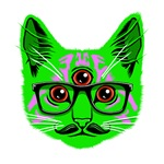 Psychedelic Trippy Cat