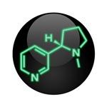Nicotine Molecule Button