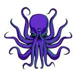 All Seeing Octopus Purple