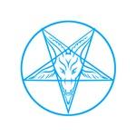 Blue Pentagram Baphomet