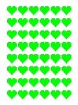 8-bit heart grid green