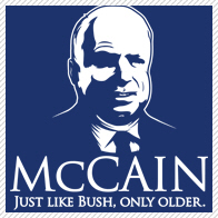 mccain just like bush only older