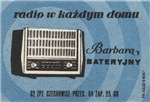 Barbara Radio Matchbox Label