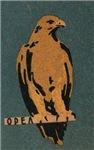 Eagle Matchbox Label