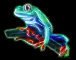 Neon Tropical Tree Frog