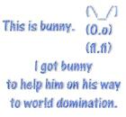 I got bunny to help him