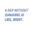 A day with no sunshine