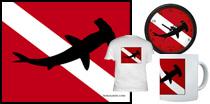 Hammerhead Shark Dive Flag