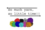 SO MUCH YARN Buttons, Stickers, Magnets