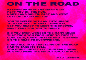 ENTERTAINMENT/POP CULTURE-ON THE ROAD
