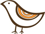 Retro brown bird