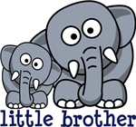 Little brother elephants