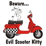 Evil Scooter Kitty Checkerboard