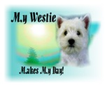 <h5>My Westie Makes My Day</h5>