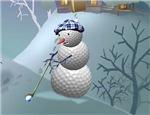 horizontal snowman section