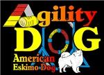 Agility American Eskimo Dog
