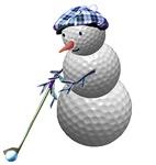 Golfing Golf Ball Snowman