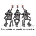 3 Robots-Hear no data, See no data, Speak No Data